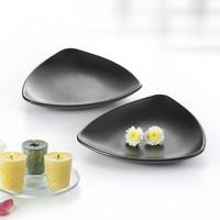 Melamine triangular plate black scrub tableware sushi mug-up plastic plate