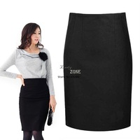 Wholesale 3pcs/lot 2013 Casual Women's Elegant Sexy High Waist Pencil Skirt OL Woolen Packet Buttock Skirt M-XXL Black 18420