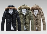 Men's Winter Down Jacket Lining Cotton Keep Warm Polyester Water Men's Jackets Winter Sport Overcoats for Men  348