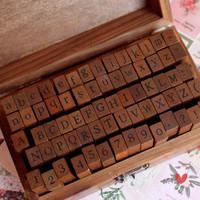 Vintage digital letter stamp lockbutton wooden box stamp 70 300