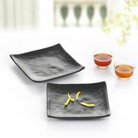 Black porcelain scrub side dish quality japanese style sushi pickle dish melamine tableware