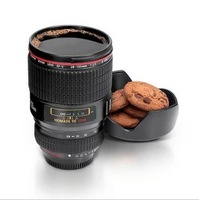 Free shipping & wholesale  magical  8.5 cm in diameter 14.5 cm in height Slr camera lenses cup vacuum  glass personal  gift