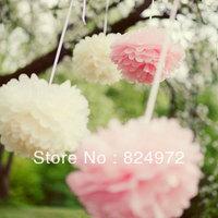 Wholesale 30pcs beautiful paper flower ball 30cm(12 inch) Tissue paper pom poms Craft Paper Flower Decoration for wedding flower