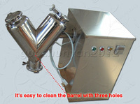 V type powder mixing machine, make powder for tablets press,Two feed ports+ stainless steel + volume 2L barrel
