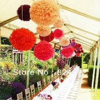 Wholesale 500pcs paper flower ball 30cm(12 inch) Tissue paper pom poms Craft Paper Flower Decoration for wedding flower