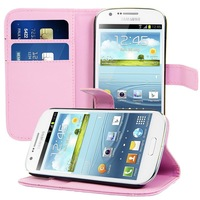 Leather Flip Stand Cover Case For Samsung Galaxy Express i8730 Wallet With ID Card Holder