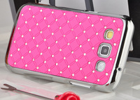 Case For Samsung Galaxy Win, Luxury Bling Rhinestone Stars Chrome Case for Samsung i8552 Galaxy Win case