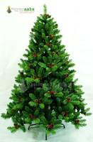 210cm luxury encryption red berries pinecone christmas tree 2.1 meters christmas decoration