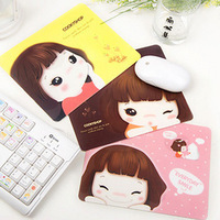 Min. Order is $10 ( Can Mix order ) ! A059 korea stationery mouse pad biscuits girl cartoon mouse pad insulation pad