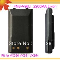 10pcs/lot DHL freeshipping free FNB-V96LI for radio walkie talkie VX350 VX351 VX354 2200mAh Li-ion intercom battery replacement