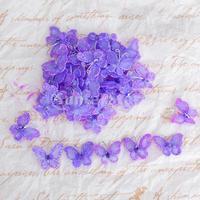 Free Shipping 50pcs Wired Mesh Stocking Glitter Butterflies - Purple