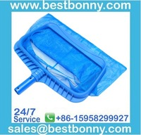 "19"" Heavy Duty Pool Skimmer Leaf Rake with Deep Net Bag"