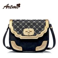Artmi2013 vintage fashion plaid lockbutton dimond women's handbag one shoulder cross-body