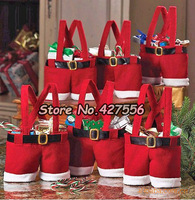 New 2013Christmas Gifts Decoration Christmas Wedding Candy Bags Lovely Gifts For Children 5pcs/set 18X15CM Free Shipping