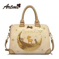 Artmi2013 handbag large bag fashion women's handbag sweet color block messenger bag
