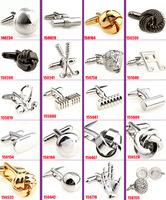 free shipping men's fashion cufflinks cuff links for men Novelty Cufflinks wedding Cufflinks 40pcs/lot can be mixed