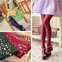 Fall and winter leggings (3 pieces/lot) Striped fashion hot drilling pantyhose High quality color can choose
