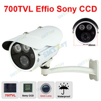 700TVL 1/3 Sony CCD IR Waterproof 6mm Lens 2 big IR LED array cctv camera