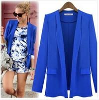European style women fashion simple blazer women business suits  blazer brand jacke with lining Vogue refresh blazers 3 colors