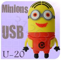 Hot sale U20 Despicable Me 2 Minions Cartoon U Disk 256MB 4GB 8GB 16GB 32GB 64GB USB 2.0 Flash Memory Stick Gift USB Flash Drive