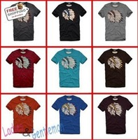 Hot Sales New Arrive European & American Pop Style Lndian Head Cotton Men T Shirt Men Wear retail/wholesale