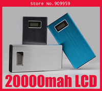 LCD 20000mah Power Bank LCD 20000 mAh Portable External Backup Battery Charger Dual USB with 8 connector for Samsung HTC