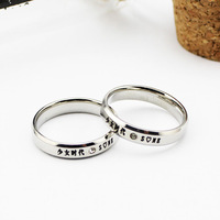 Girls GENERATION logo mark of titanium glue ring