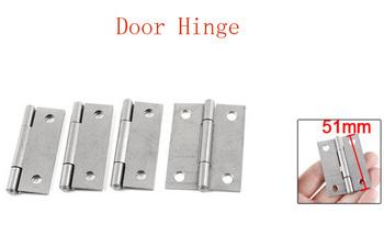 "2"" Gray Rectangular Folding Closet Cabinet Door Hinge Hardware 8pcs"