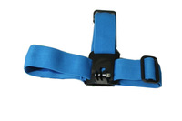 F06671 Camera Helmet Head Strap Belt Mount Fixed Headband Size Adjustable Anti-Skid Blue For Gopro Hero HD 2 3