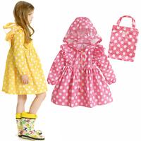 High quality dot polka dot polka dot child raincoat female child raincoat beautiful