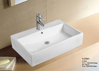 Free drains free shipping 7441 Ceramic Rectangular Counter top Cabinet Basin Bathroom Sink