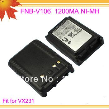10pcs/lot Dfree shipping free FNB-V106 FNB V106 FNBV106 for 2 way radio VX231 1200mAh NI-MH Replacement battery