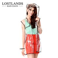 High quality fashion women's transparent raincoat women's fashion poncho long design short design
