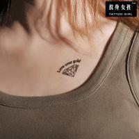 Girl diy tattoo waterproof Women diamond tattoo stickers t006