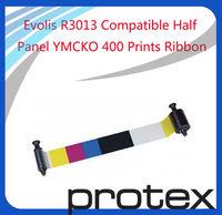 Evolis R3013 Compatible Color Ribbon 1/2 panel YMCKO 400 prints & Asia Free Shipping