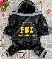 2014 new arrival  high quality USA FBI pet clothes  fashion design rain coat (PTS044)