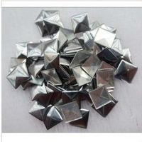 2013fashion 7mm silver hot fix Pyramid nailhead Studs Spots Punk Rock Biker DIY Spikes Bag Shoes Clothes 500pcs/lot Free shiping