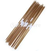 Free Shipping 11 x 4pcs 35cm Bamboo Knitting Needles Double Pointed Sizes 2.0-5.0mm