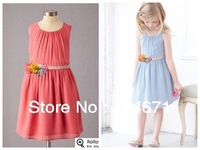 Free Shipping (6pcs/lot) 2013 New Arrival Girl's Brand Dress / Baby Fashion Dress European&American Style Princess Summer Dress