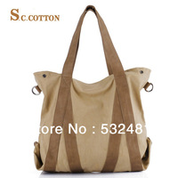 2013  Genuine Leather vintage fashion women shoulder bags  hot sales and free shipping women canvas bags