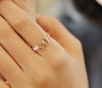 hotsale  new  Punk Music Standard female finger Ring wholeprice YILIA TJ01