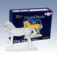 3D Horse Crystal Jigsaw Puzzle 100 Pcs