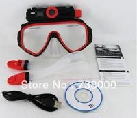 5Mega pixel 30m underwater DVR video camera, diving mask camera with 4GB built-in memory
