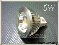 10X Hot Sale 3W 5W 6W COB LED Bulbs Super Bright 455LM MR16 LED Spotlight Lamp GU5.3 DC 12V, Free Shipping