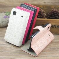 Free Shipping Original Cartoon Stylish Leather Flip Case Back Cover for Samsung Galaxy S Plus i9000 i9001 T959 9000
