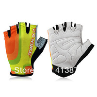 2013 Men Fashion Outdoor sport Cycling Road Mountain Bike Bicycle Half Finger Breathe Freely Gloves Gel Silicone Size M L XL