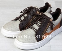2013 girls fashion free shipping western style flat patchwork lace up leisure sneakers with zipper design