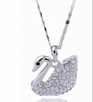 Sales Austrian crystal element necklace elegant swan X0110 free shipping anywhere