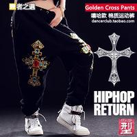 Hip hop dance wear Spring 2014 Hip hop pants women Sports pants sportswear Women's sports pants Punk Dance harem sweatpants