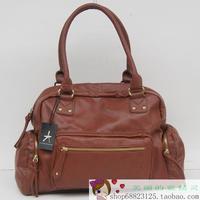Atmosphere vintage style one shoulder big capacity women's handbag brown pu shoulder bag